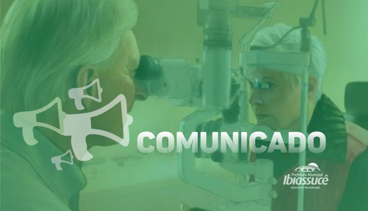 COMUNICADO: Tratamento de Glaucoma