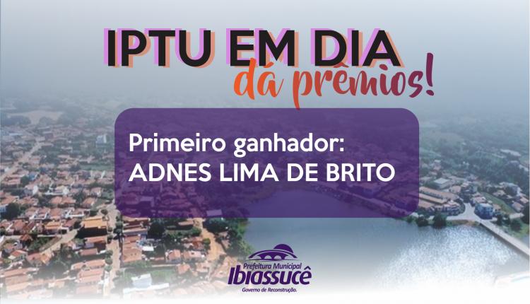"""Programa """"IPTU em dia dá prêmios"""" realizou primeiro sorteio para os cidadãos do município"""