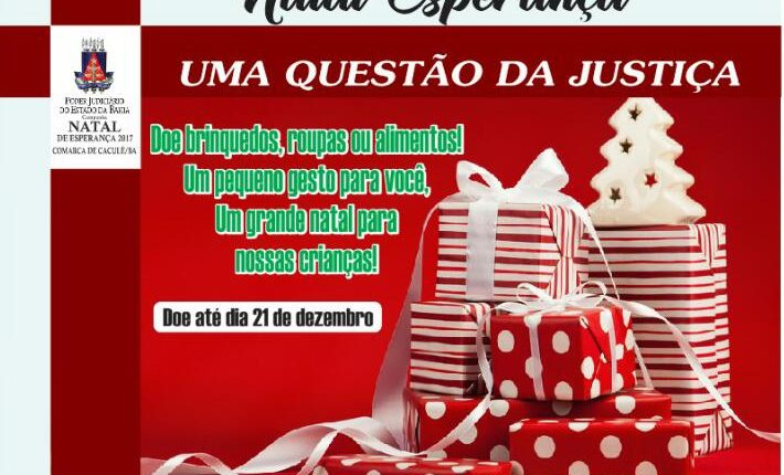 """Prefeitura apóia """"Campanha Natal Esperança: Uma questão de Justiça"""" do Poder Judiciário"""