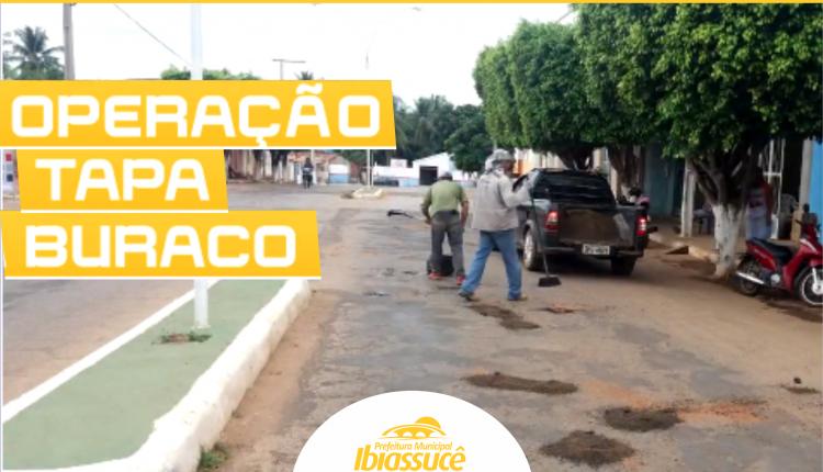 Vídeo: Prefeitura realiza Operação Tapa Buraco em ruas da sede