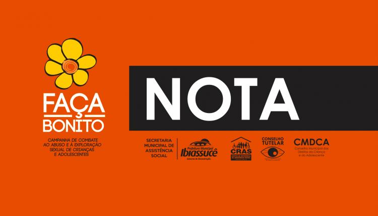 NOTA: Campanha Faça Bonito terá cronograma alterado em decorrência de falta de combustível