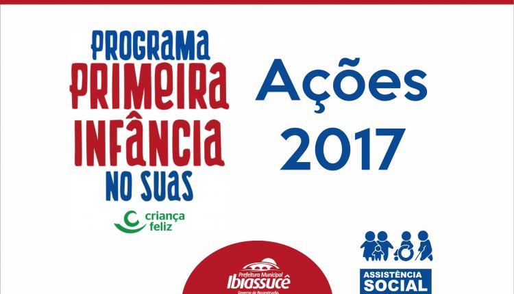 Ações do Programa Primeira Infância no SUAS em 2017
