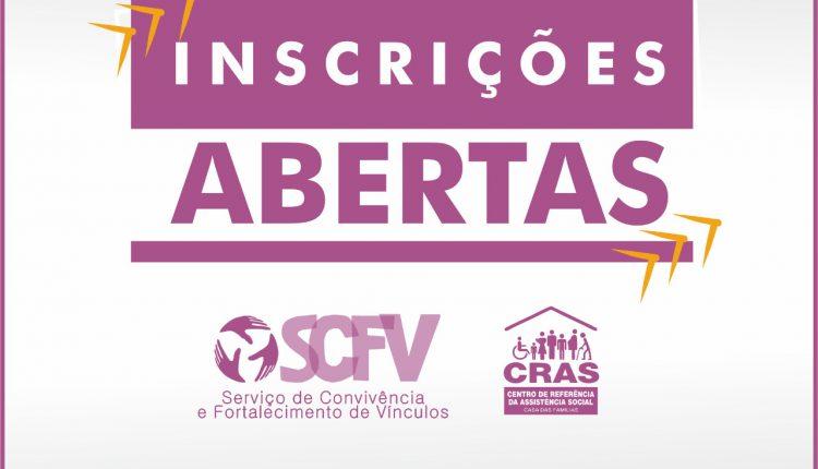 CRAS abre inscrições para oficinas dos grupos do Serviço de Convivência e Fortalecimento de Vínculos