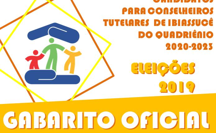 O Conselho Municipal dos Direitos da Criança e do Adolescente de Ibiassucê divulga  gabarito preliminar para seleção dos novos conselheiros tutelares de 2020 – 2023