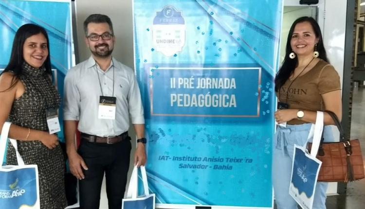 Coordenadores/técnicos e Secretária Municipal de Educação de Ibiassucê participam de 2ª Pré-jornada em Salvador-BA.