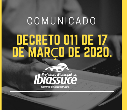 DECRETO 011 DE 17 DE MARÇO DE 2020.