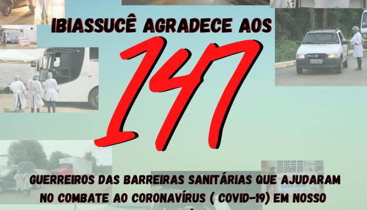 Ibiassucê agradece aos 147 guerreiros das barreiras sanitárias que ajudaram no combate ao Coronavírus (Covid-19) em nosso Município