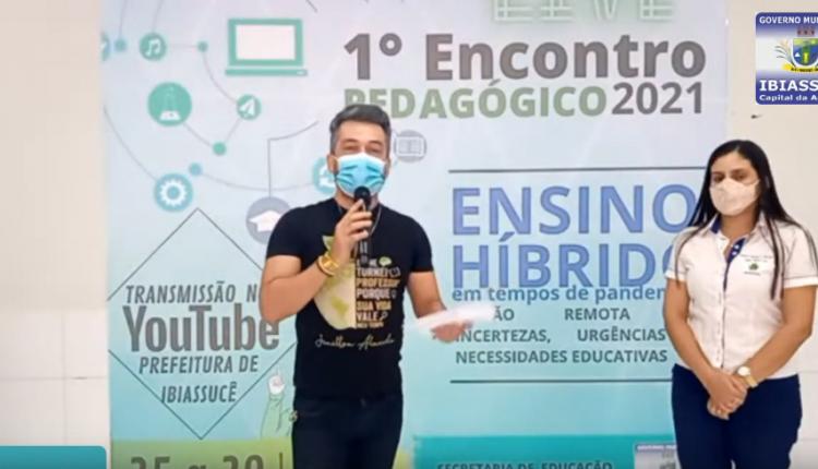 Ibiassucê Realiza Encontro Pedagógico Virtual com os professores da Rede Municipal de Ensino