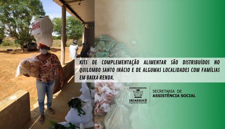 Kits de complementação alimentar são distribuídos no Quilombo Santo Inácio e de algumas localidades com famílias em baixa renda