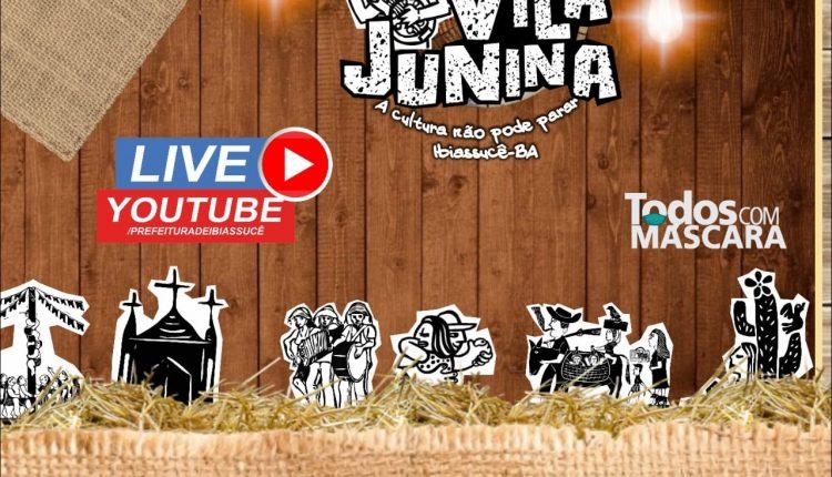 Programação Live show Vila Junina 2021