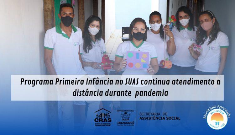 Programa Primeira Infância no SUAS continua atendimento a distância durante a pandemia