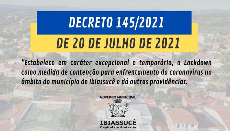 DECRETO 145/2021 DE 20 DE JULHO DE 2021.