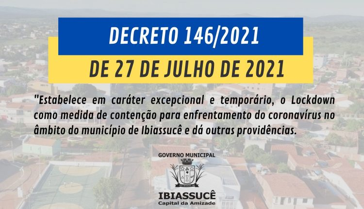 DECRETO 146/2021 DE 27 DE JULHO DE 2021